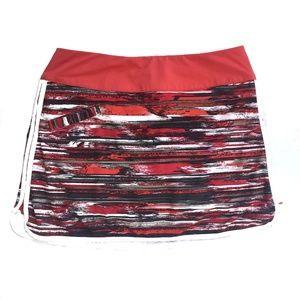 {Athleta} Striped Multicolor Skort Size 4